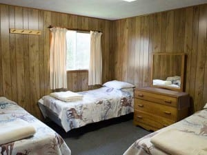 Beds, Accommodations, French River Provincial Park Cottages, All Inclusive American Plan Meal, Housekeeping, Bear's Den Lodge,