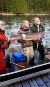 Fishing French River sturgeon, Explorer's Edge, Great Canadian WIlderness, Bear's Den Lodge