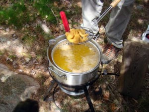 Guided Fishing French River Meals, Bear's Den Lodge shore lunch
