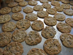 Home baked oatmeal raisin cookies included with Meal Plans at Bear's Den Lodge