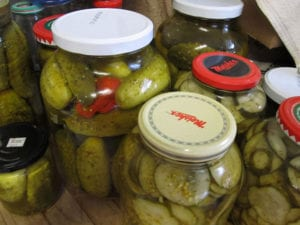 Home made pickels, French River Meal Plans, Bear's Den Lodge