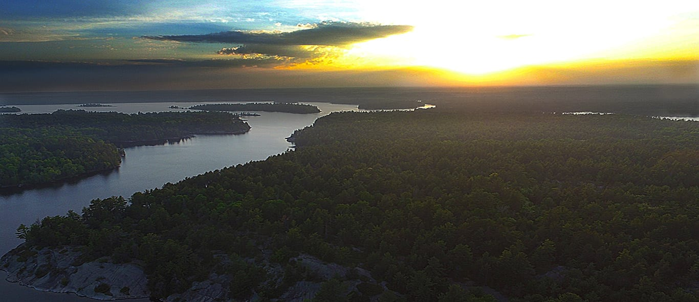 French River Provincial Park, DiscoverON, Drone Photography, Snow Drift Media, Monkey and Machine, Bear's Den Lodge Fishing French River, Sunsets Canada