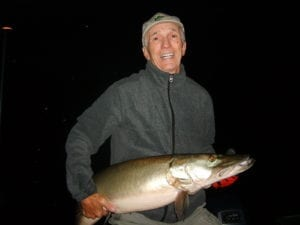 Musky fishing French River Delta