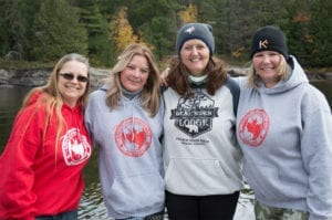Great Canadian Female Anglers posing for a picture in Fall 2016 at Bear's Den Lodge.