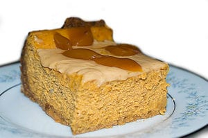 Pumpkin Ginger Cheesecake by Arthur Barefoot, photo by Joe Barefoot