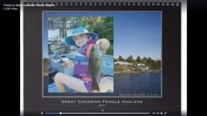 Great Canadian Female Angler's 2017 Calendar Winners.