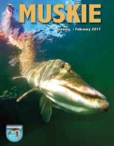 French River Places in Muskies Inc. Records of Men's Top 25 for 2016 in the January/February 2017 edition