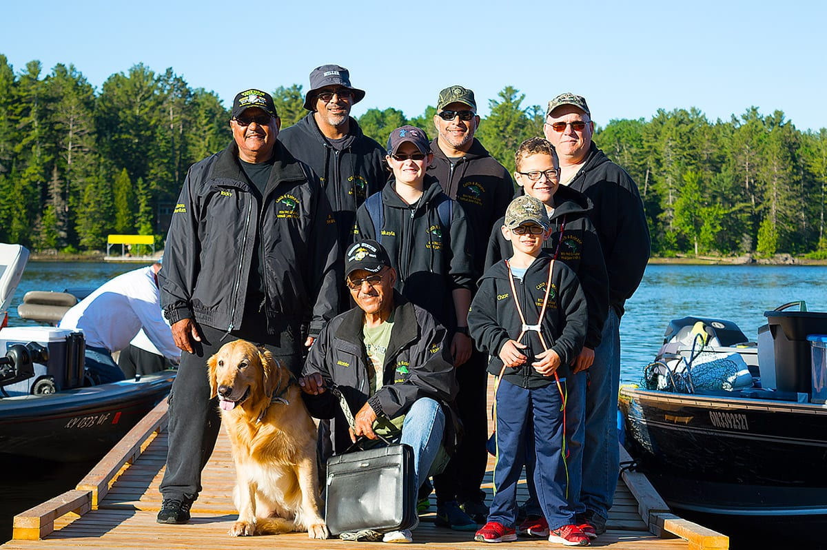 Pattillo Family from Altoona Pa, Loyal guests for over 31 years at Bear's Den Lodge Fishing French River