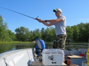 French River Fishing, Fishing Rod Casting and Boating
