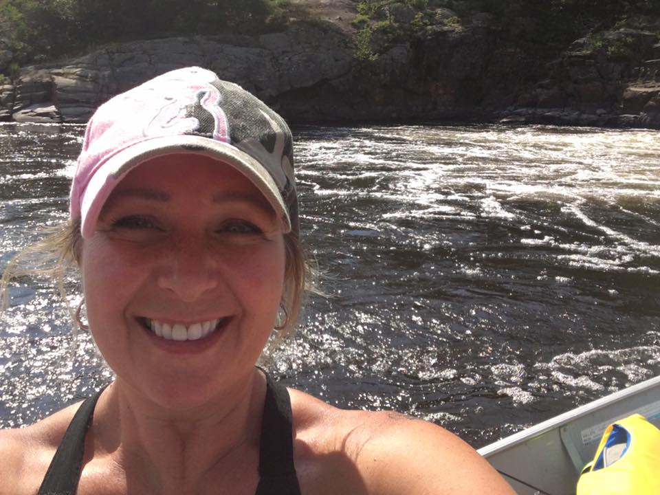 French River Ontario Scenery Selfie